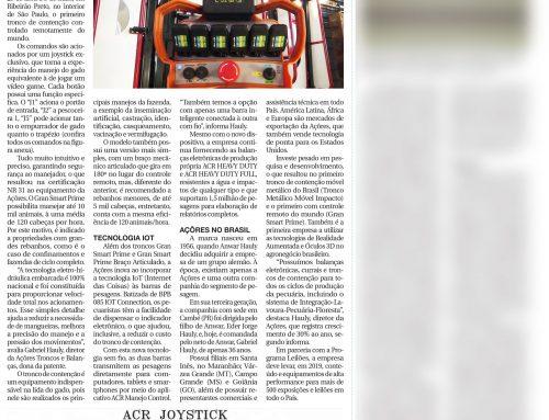 Saiu na mídia: Agrishow apresenta 1º tronco de contenção com controle remoto do mundo