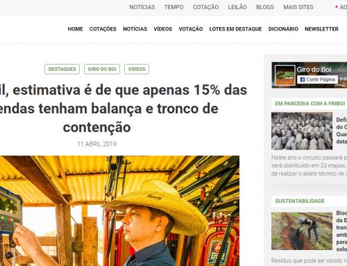 No Brasil, estimativa é de que apenas 15% das fazendas tenham balança e tronco de contenção