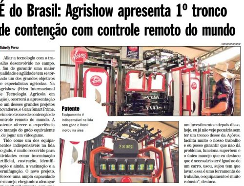 É do Brasil: Agrishow apresenta 1º tronco de contenção com controle remoto do mundo